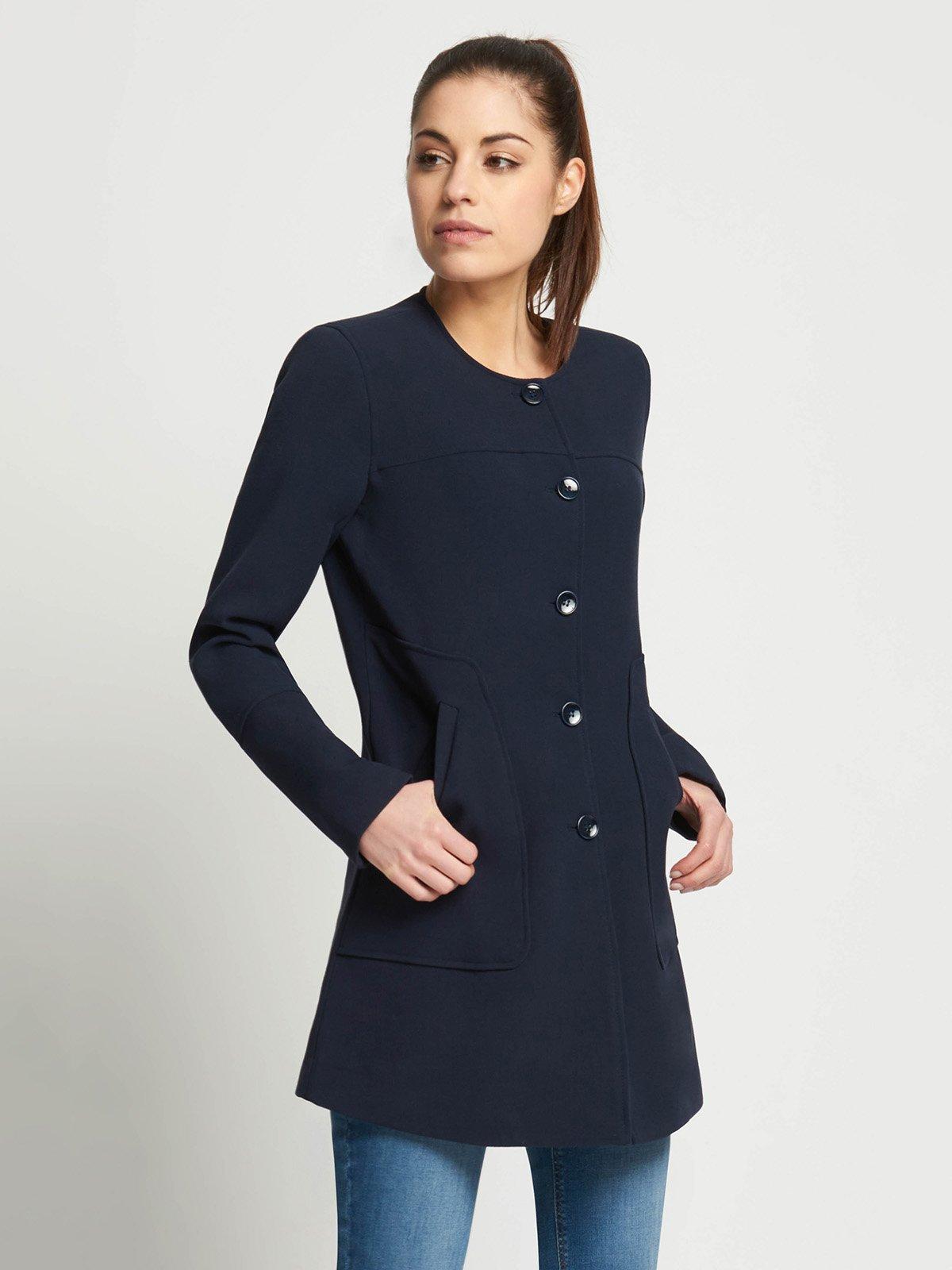 Пальто темно-синее | 3021838