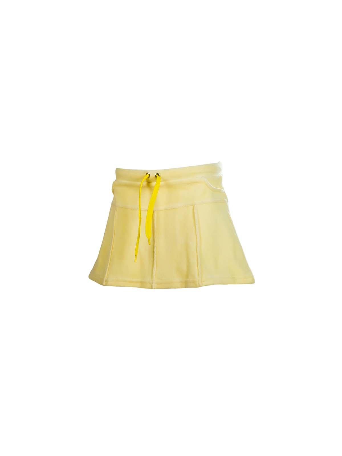 Юбка желтая велюровая | 3133207
