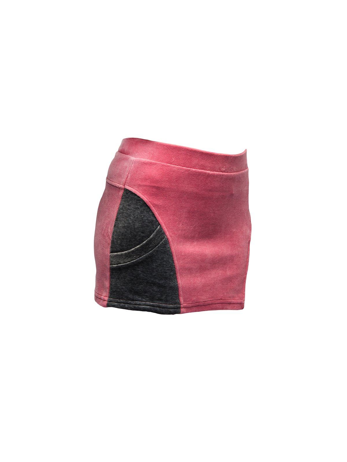 Юбка розовая велюровая | 3133220