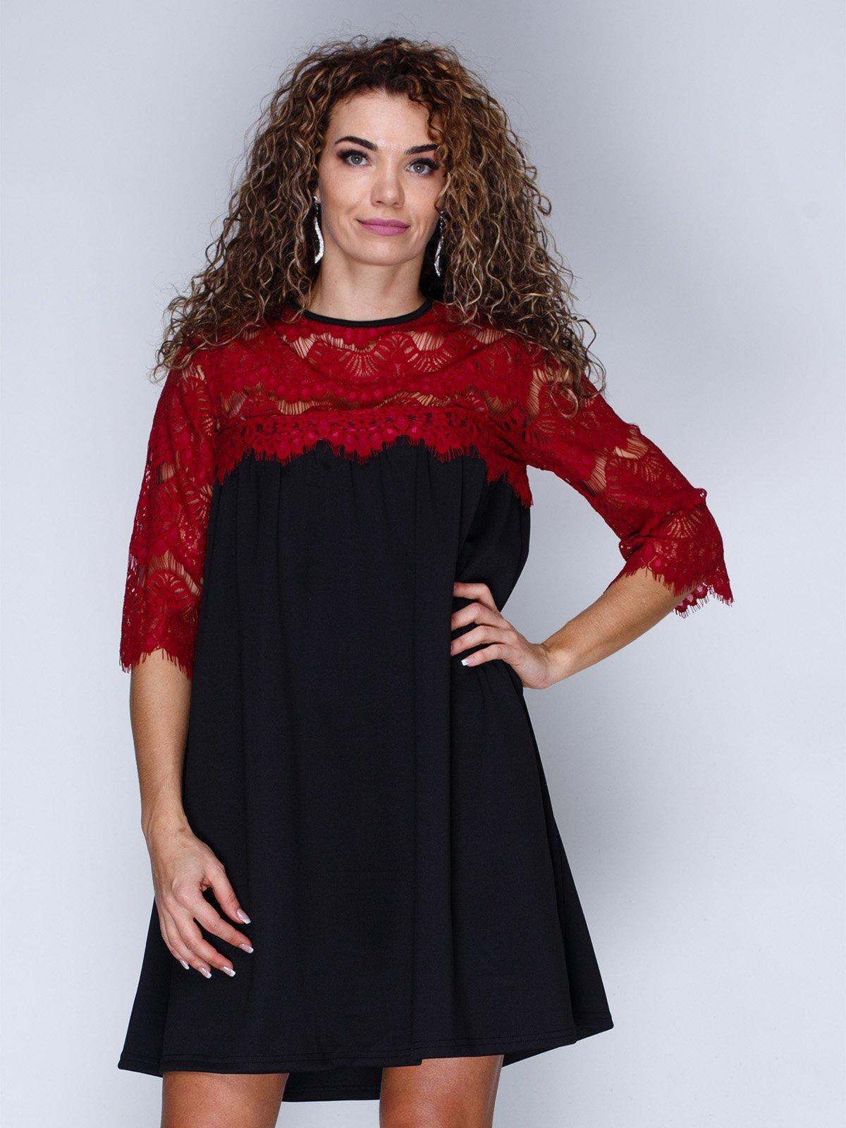 Сукня чорно-червона | 3086327