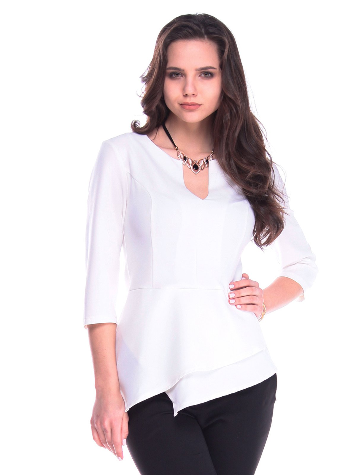 Блуза молочного кольору   3141550