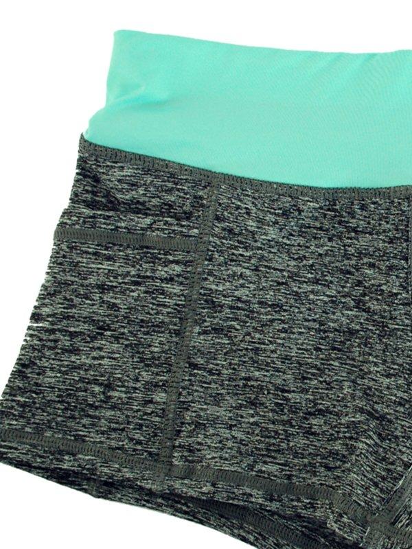 Шорты спортивные серые с голубым поясом | 3155875 | фото 3