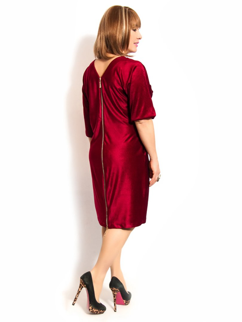 Платье бордовое   3158977