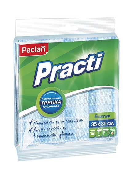 Тряпка Practi Medium Paclan (35х35 см) - 5 шт. | 3167136