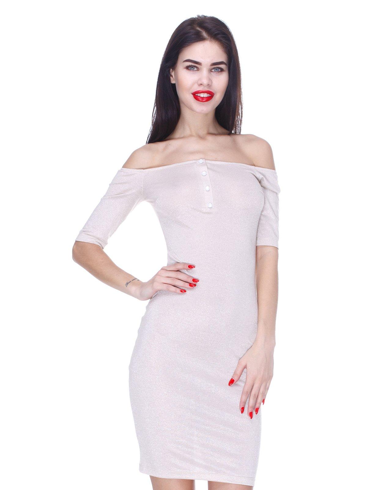 Платье бежевое | 3155126