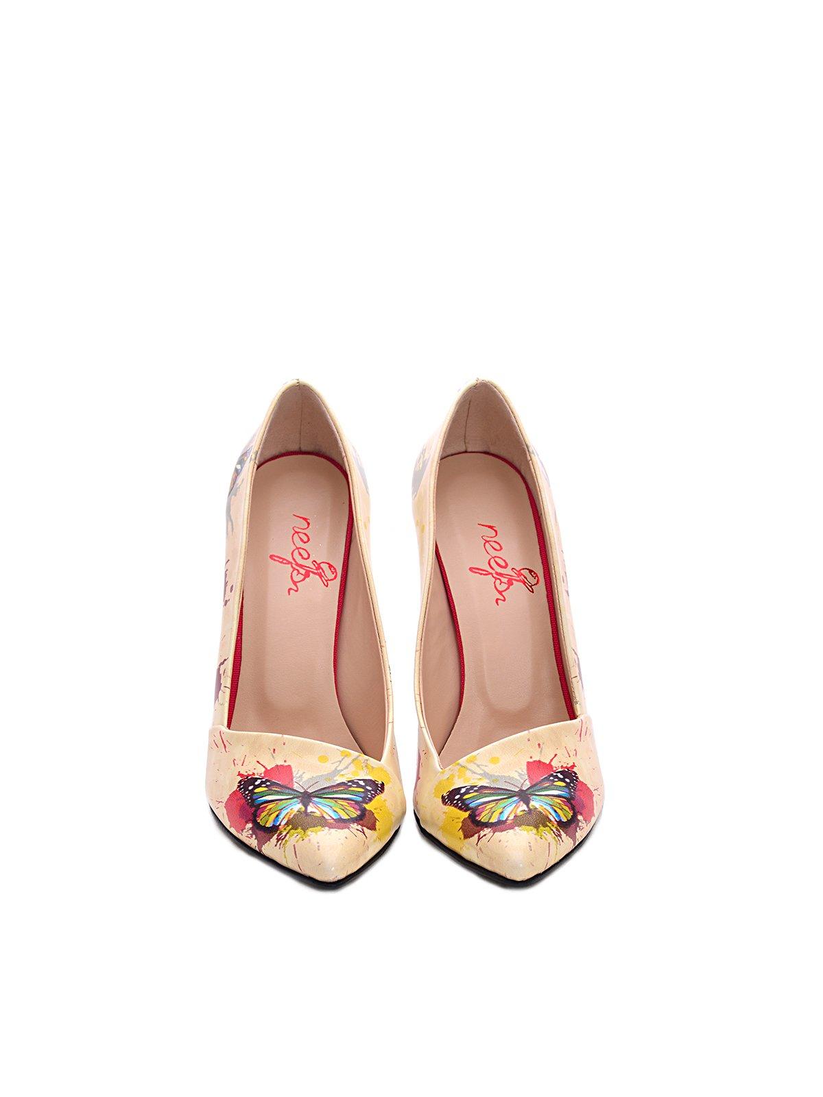 Туфлі жовті в принт | 3189137