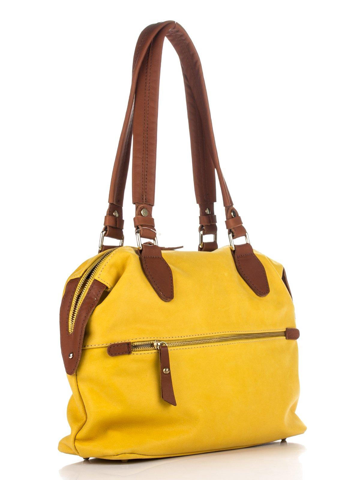 Сумка желто-коричневая | 3173305 | фото 3