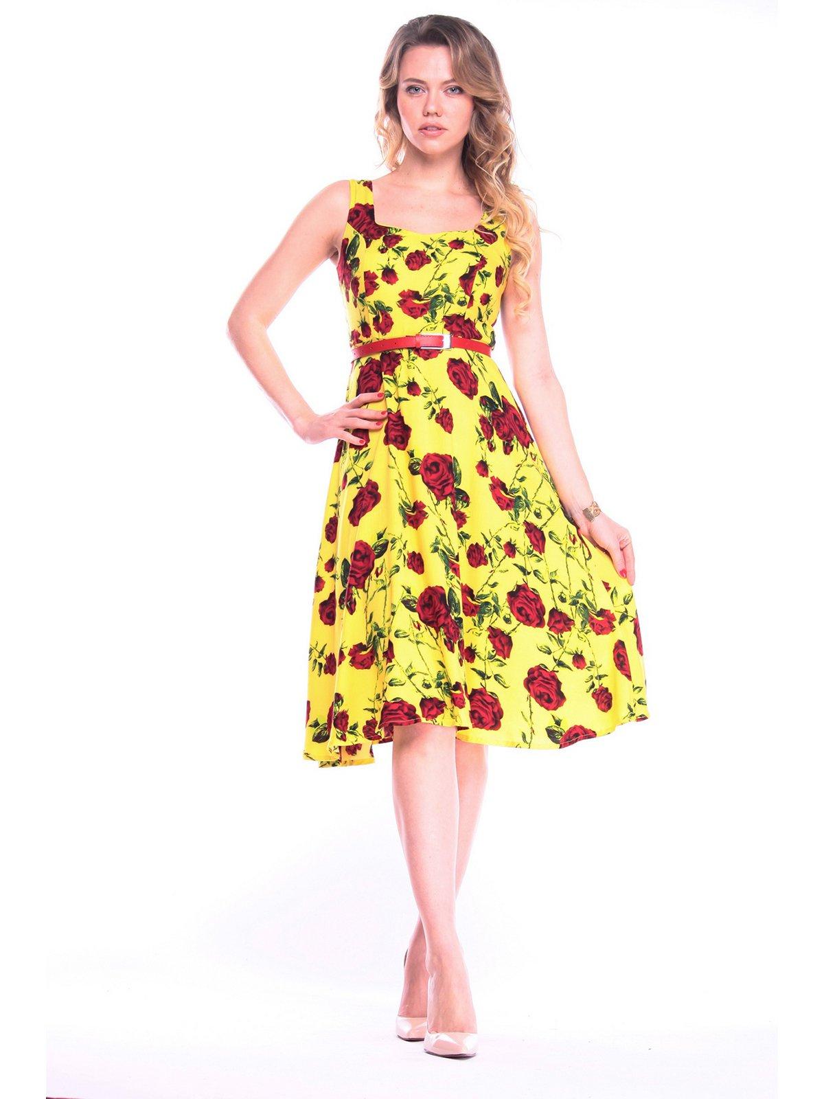 Платье в цветочный принт   3203883