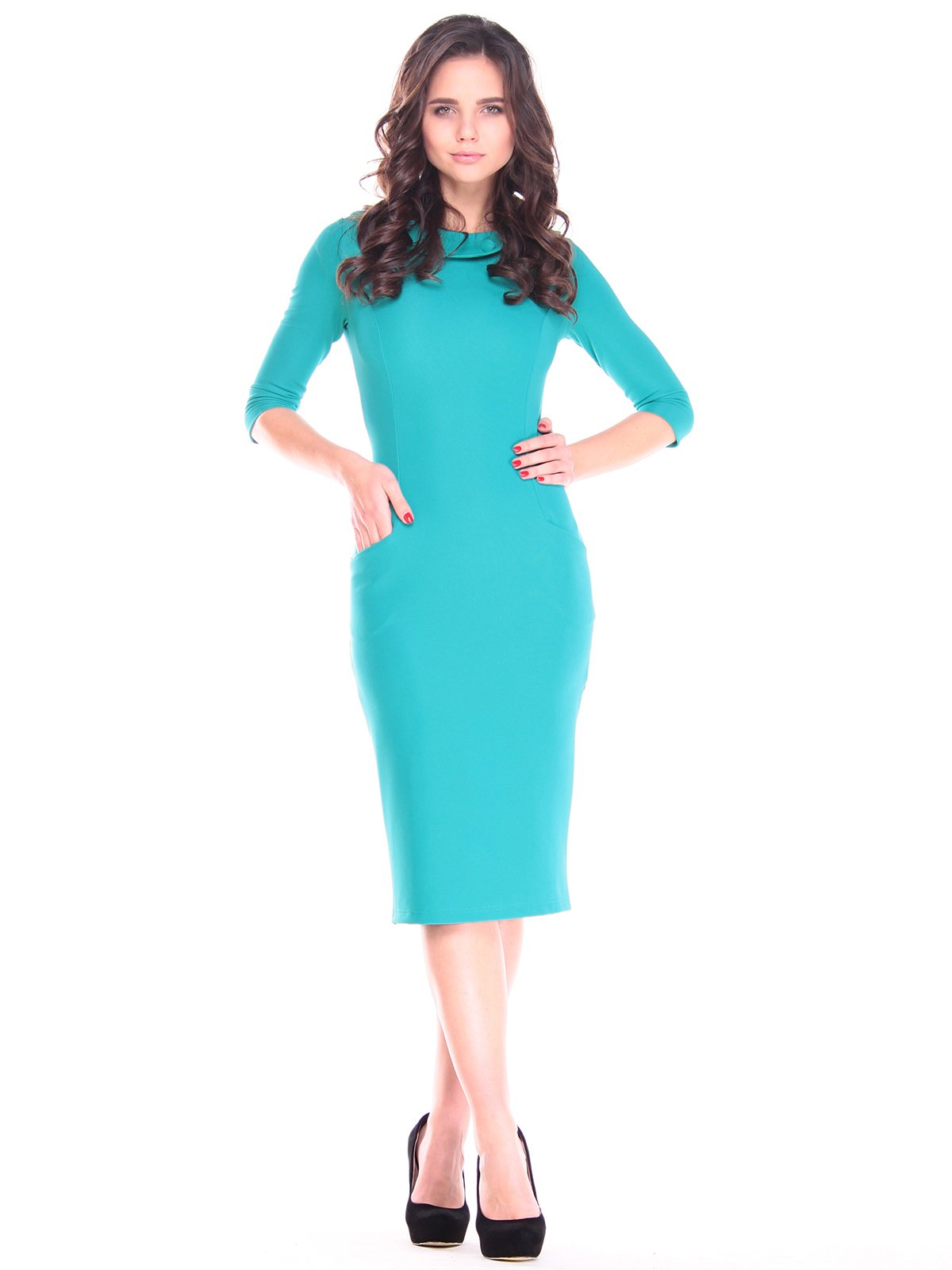 Платье бирюзовое | 2809456