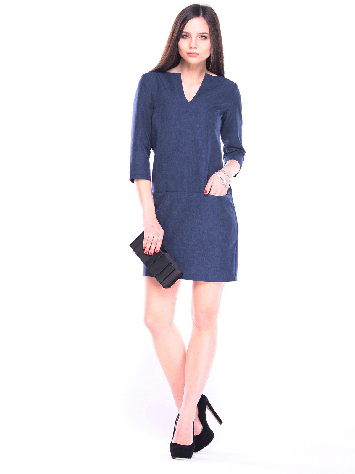 Платье темно-синее | 3091002