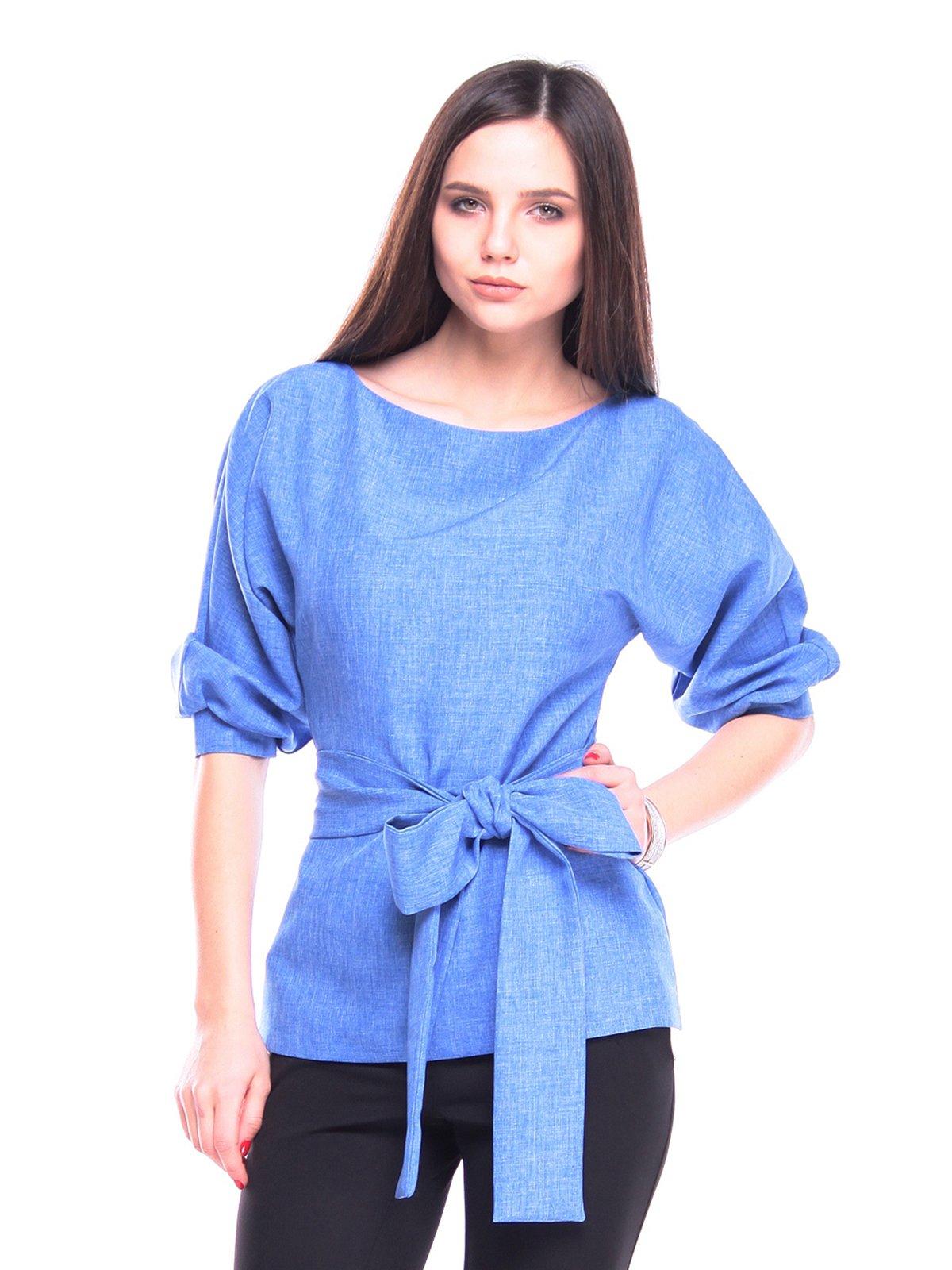 Блуза кольору електрик | 3091008