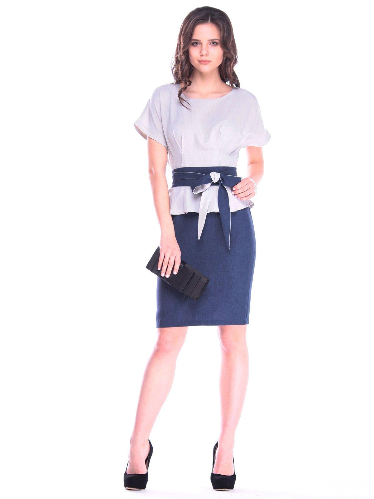 Сукня сіро-синя | 3184571