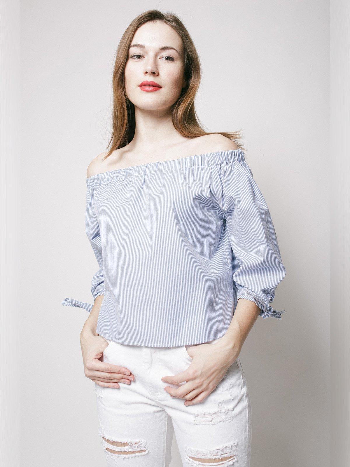 Блуза синяя | 3201039