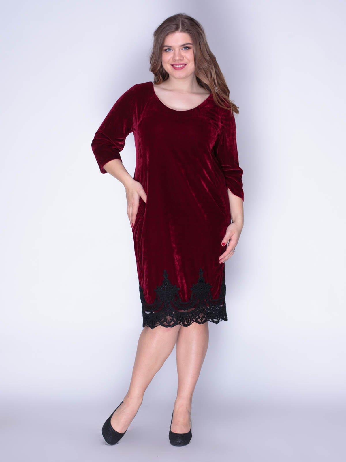 Сукня оксамитова червона | 3130131