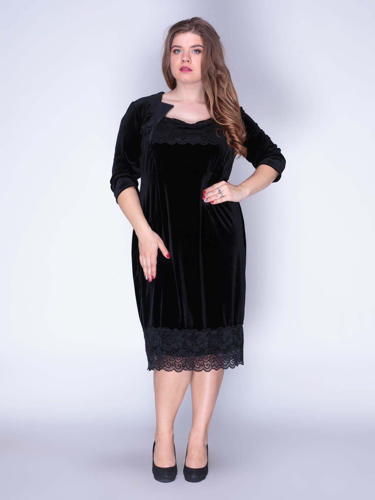 Сукня оксамитова чорна | 3207618