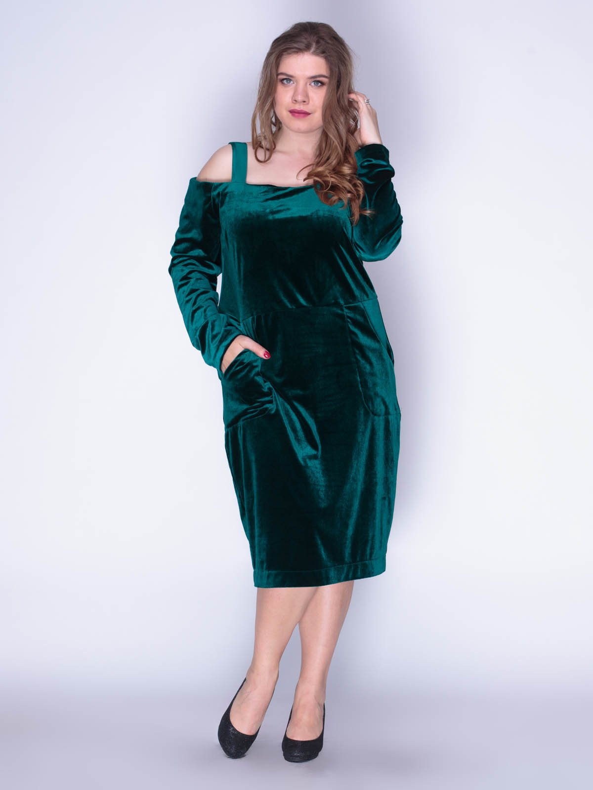 Сукня оксамитова смарагдова | 3158673