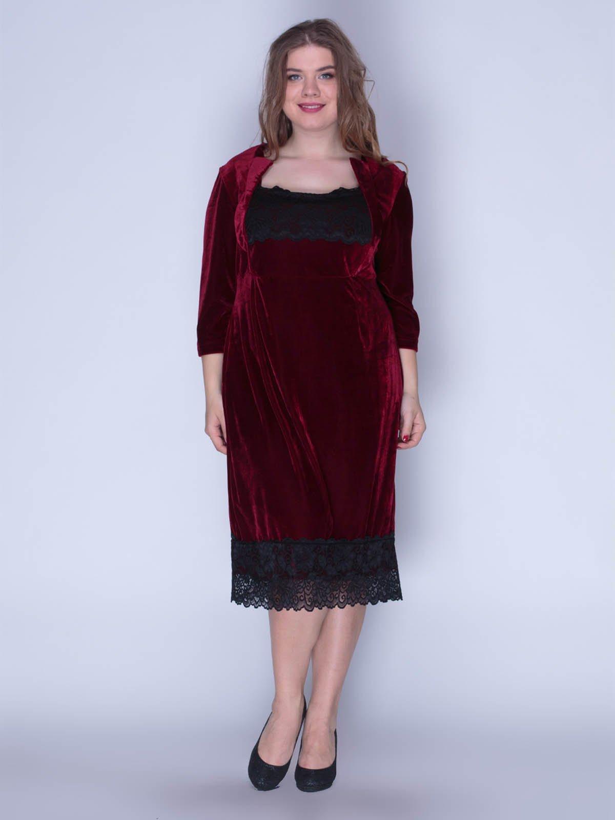 Сукня оксамитова червона | 3207619
