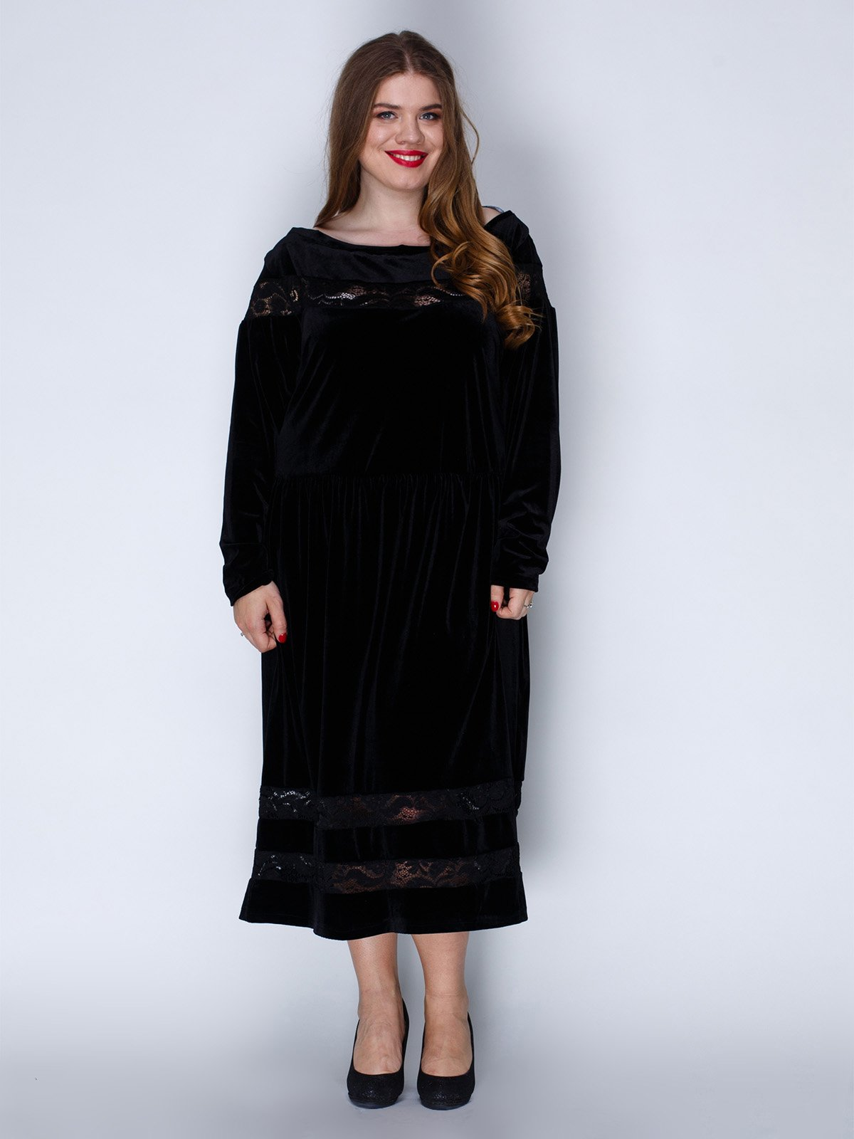 Сукня оксамитова чорна | 3202211