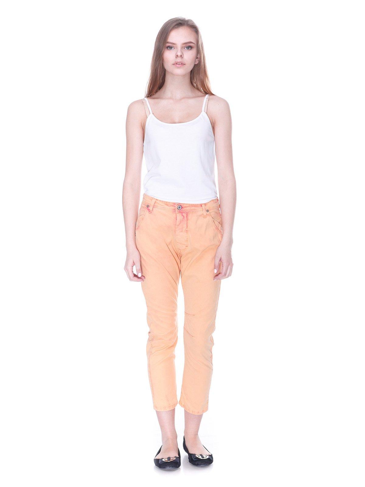 Брюки персикового цвета | 3114156