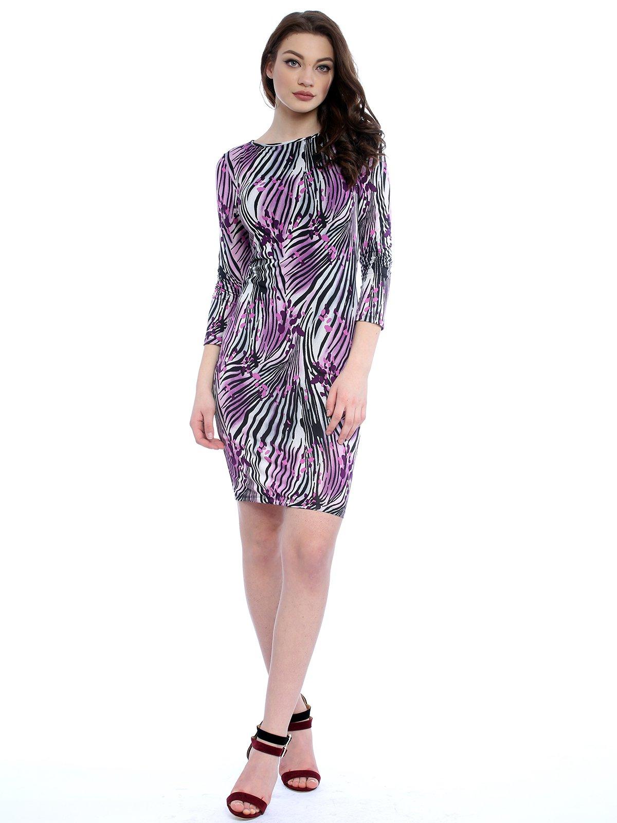 Сукня різнобарвна в принт | 3228953
