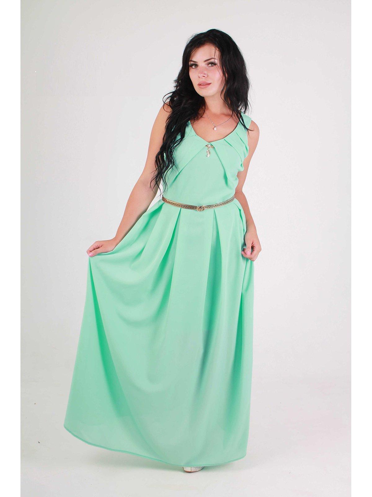 Платье ментолового цвета | 3122338