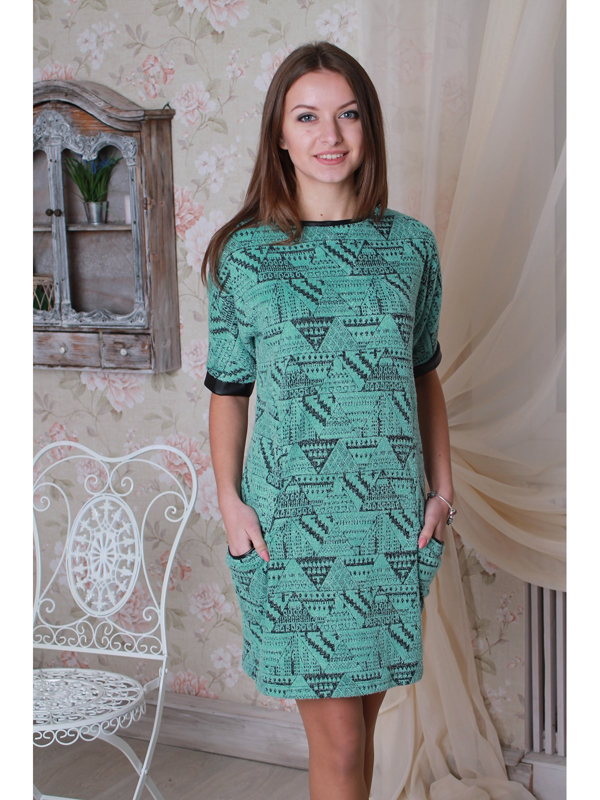Платье мятного цвета | 3122348