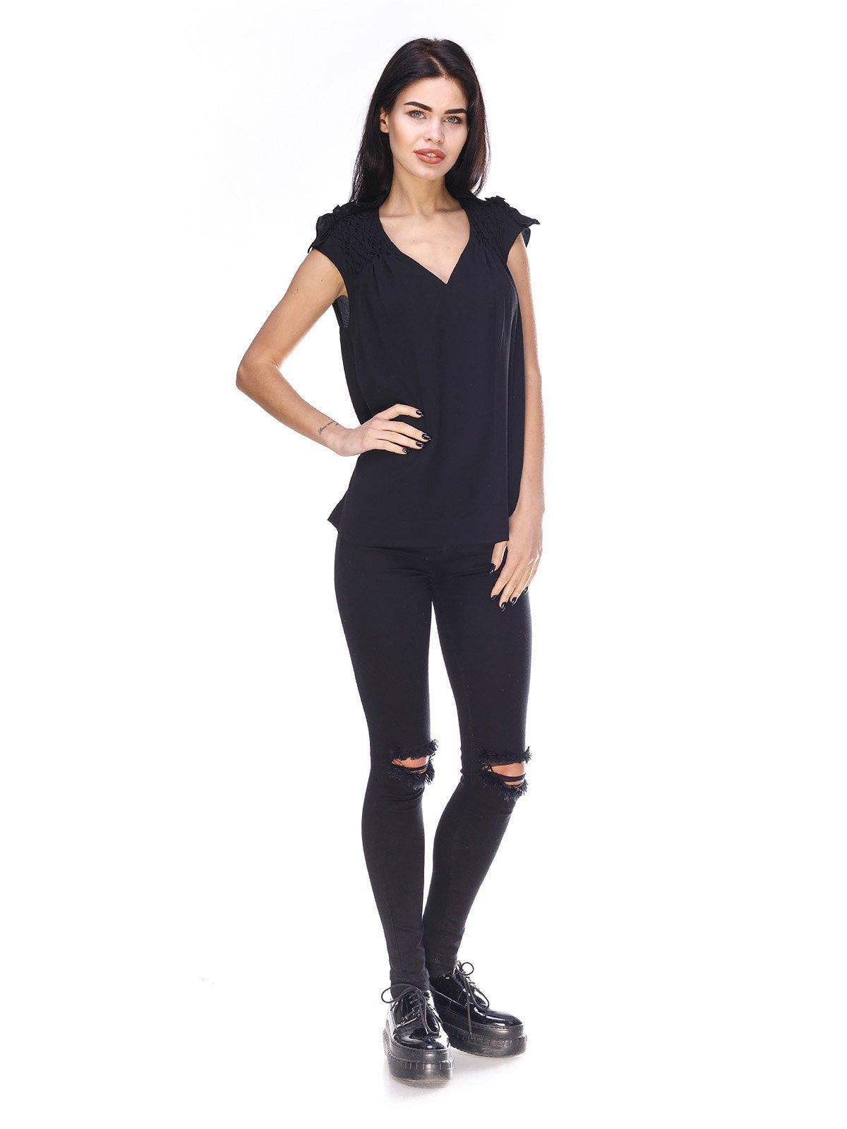 Блуза черная | 3165948 | фото 4