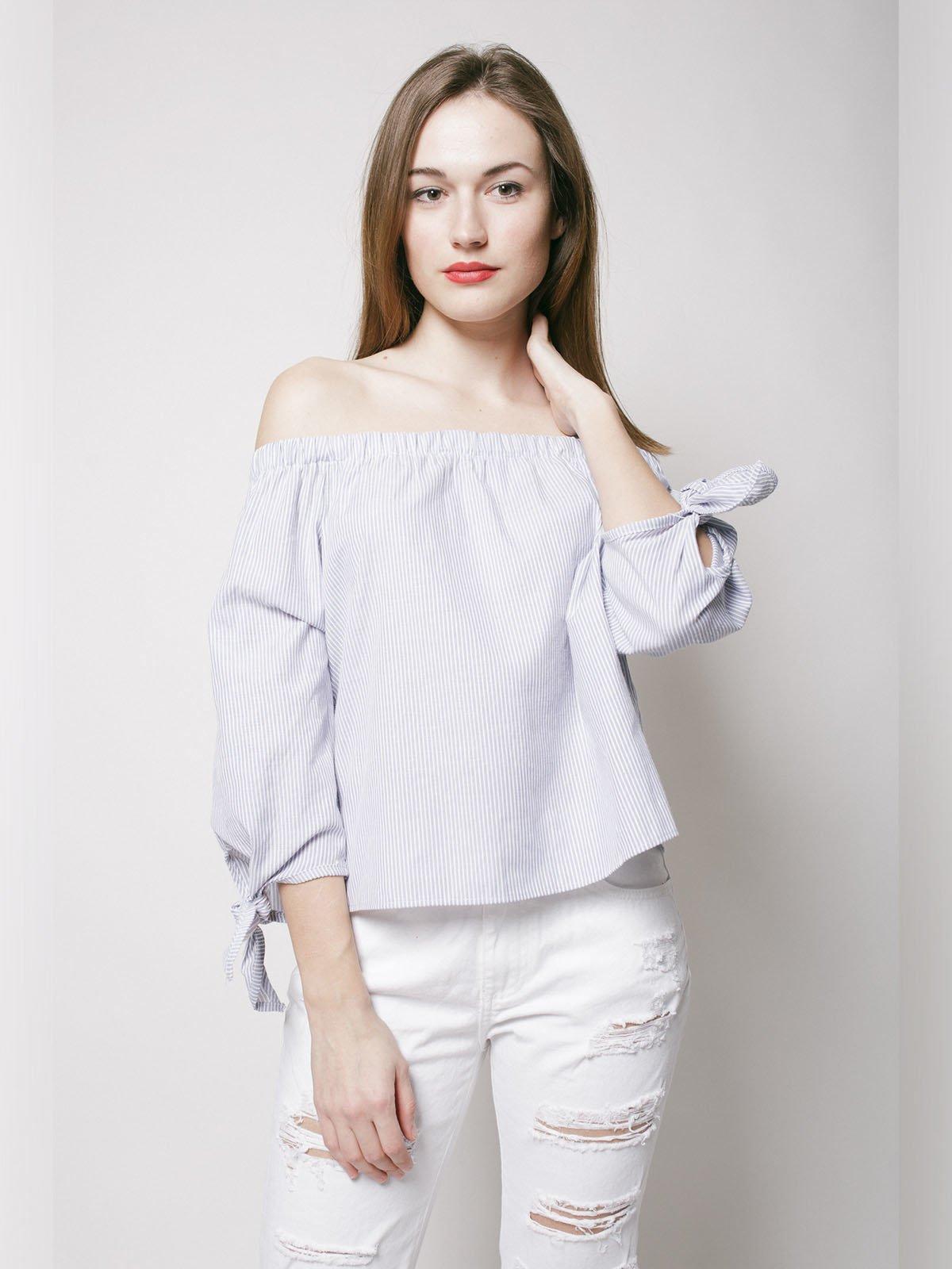 Блуза сиреневая | 3201041