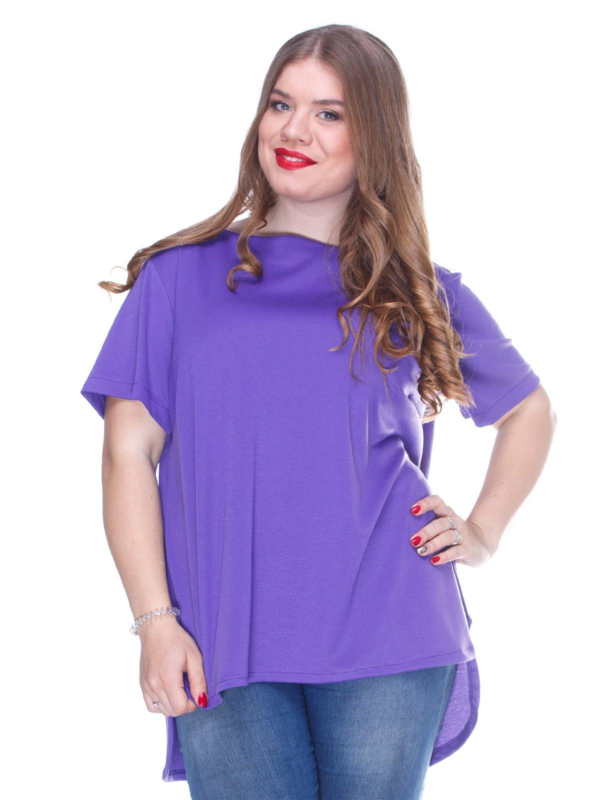Блуза фіолетова  з асиметричним низом | 3234375