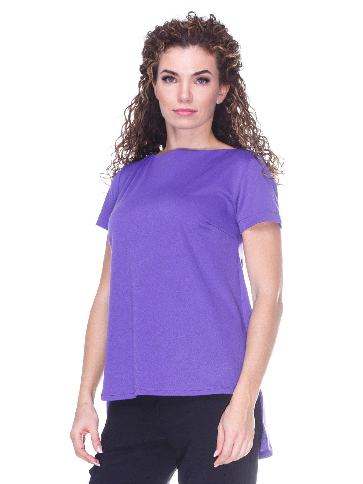 Блуза фіолетова  з асиметричним низом | 3234374