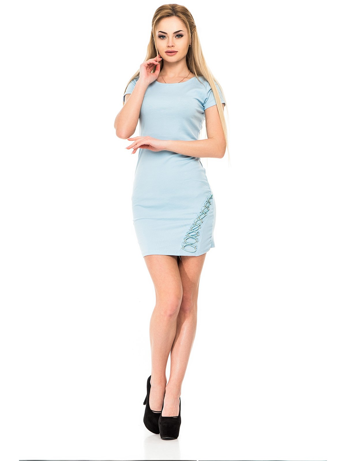 Платье голубое | 3265852