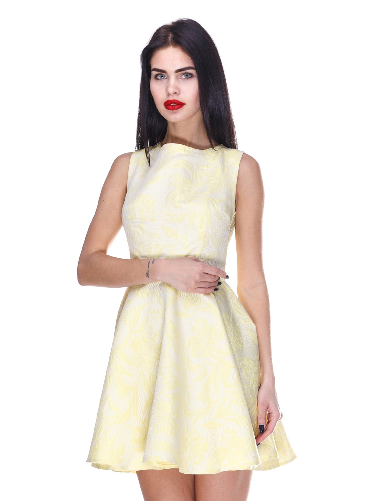 Сукня жовта в принт | 3255702