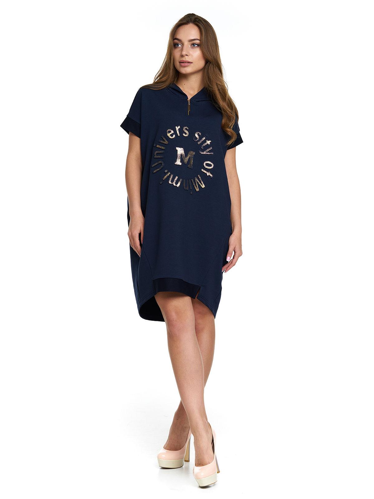 Сукня синя з принтом | 3299628