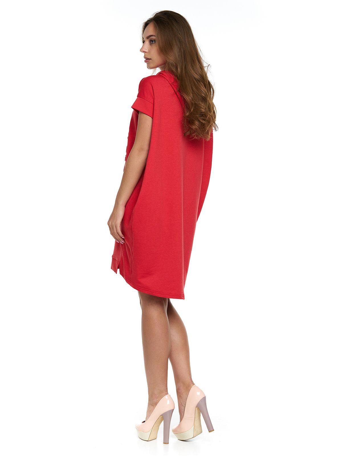 Сукня червона з принтом | 3299629 | фото 2