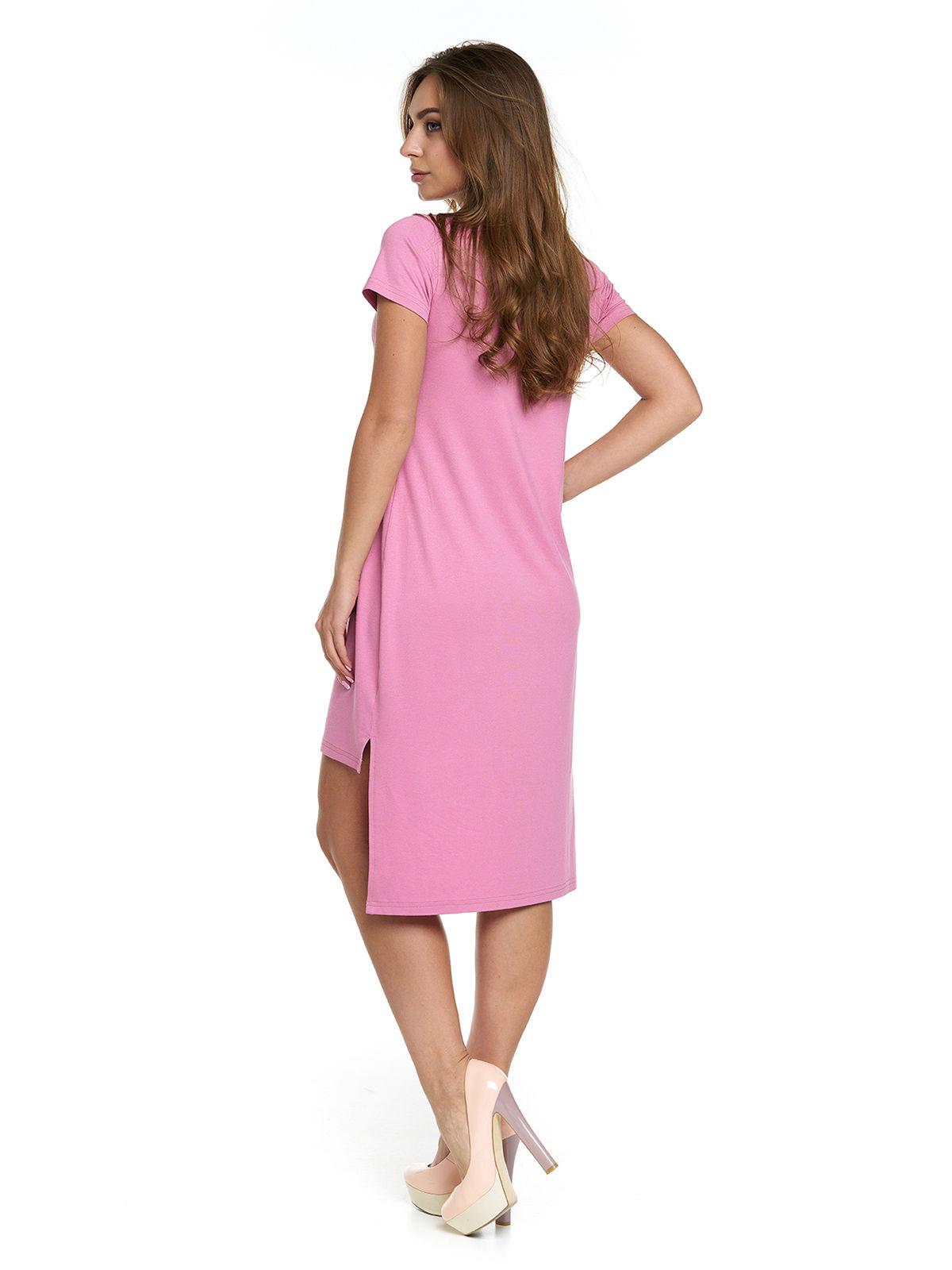 Сукня рожева з принтом | 3299636 | фото 2