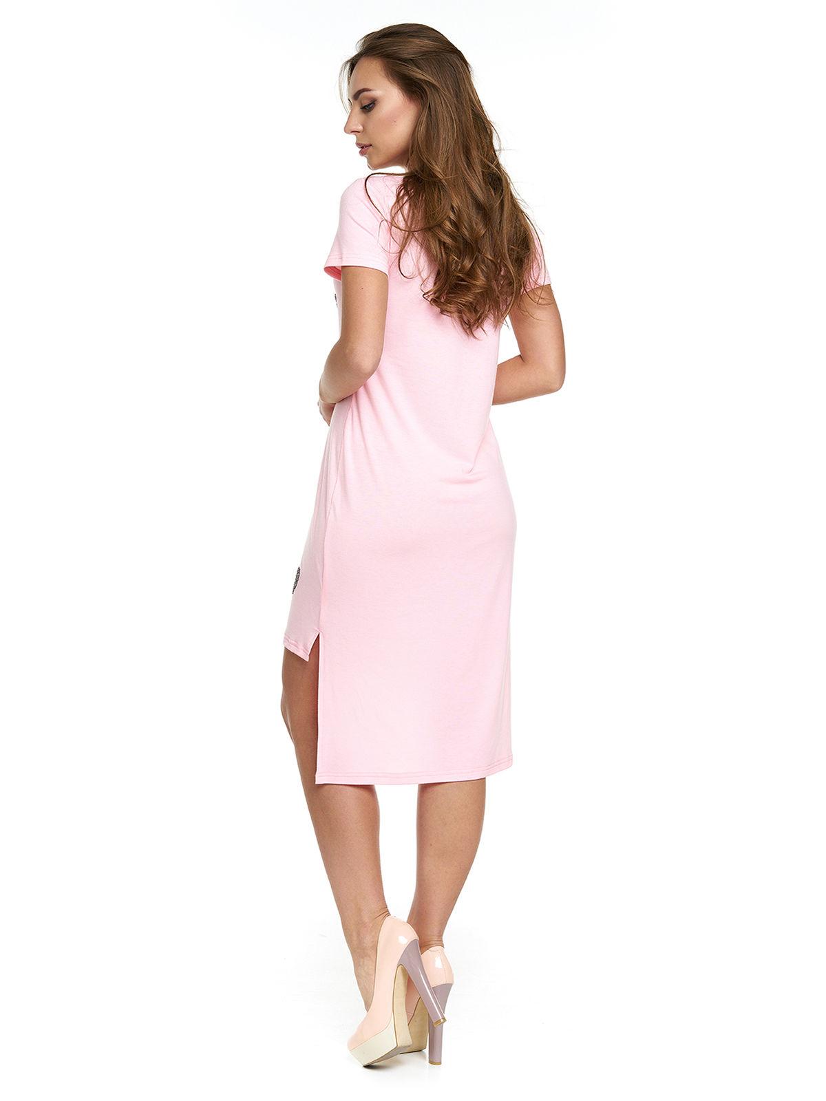 Платье розовое с надписью | 3299639 | фото 2