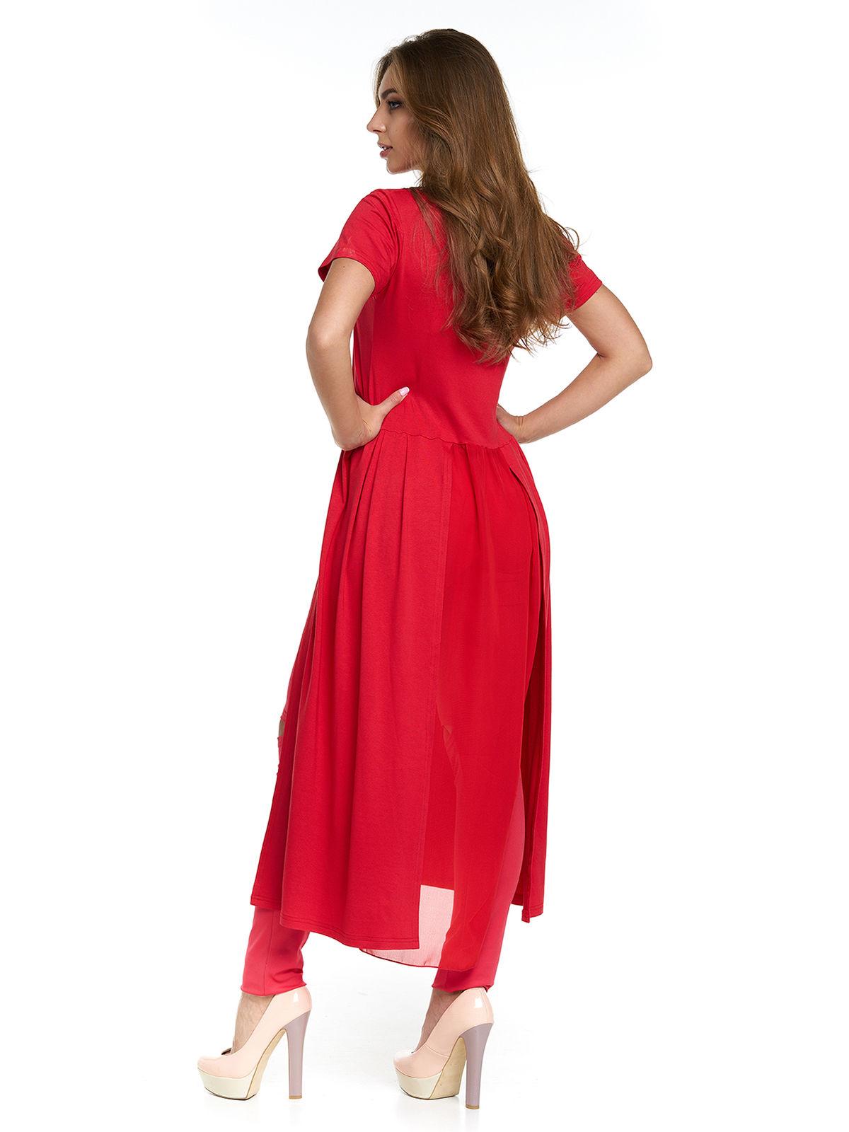 Туніка червона з принтом | 3299644 | фото 2