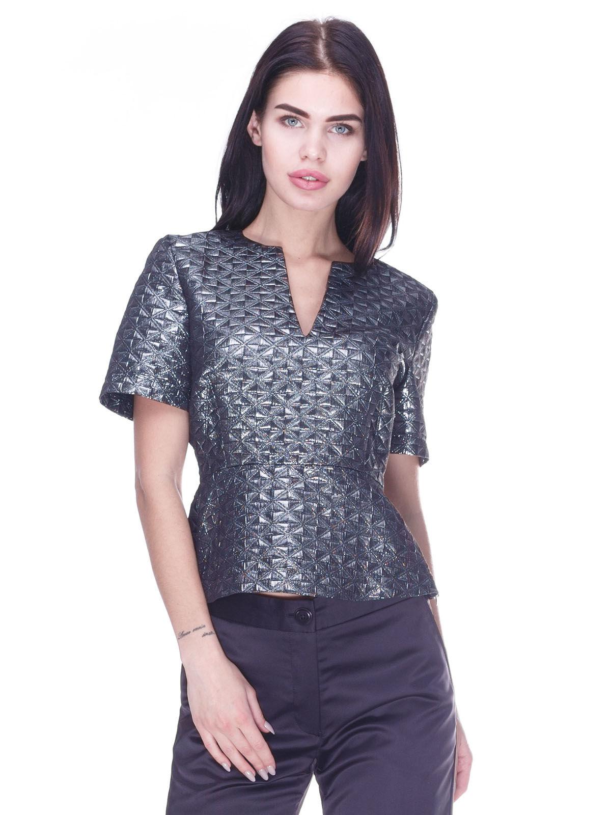 Блуза темно-серая   3296809