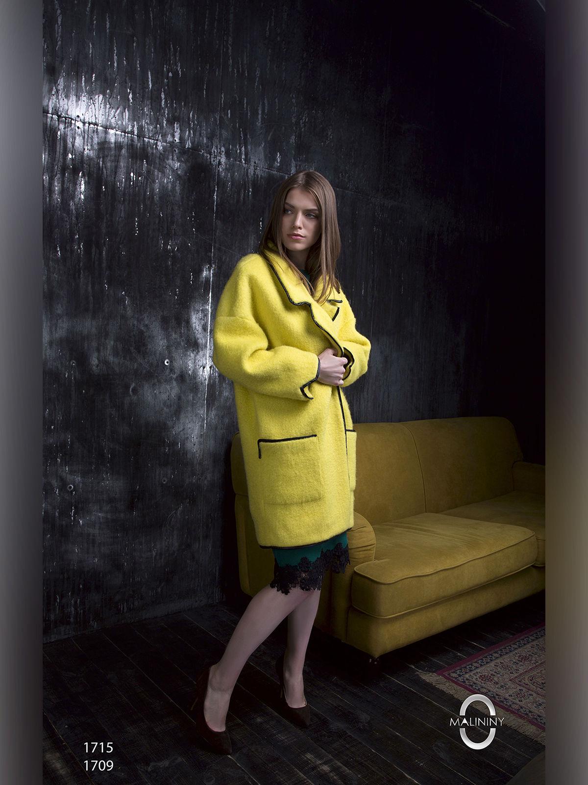 Пальто желтое | 2596411 | фото 2