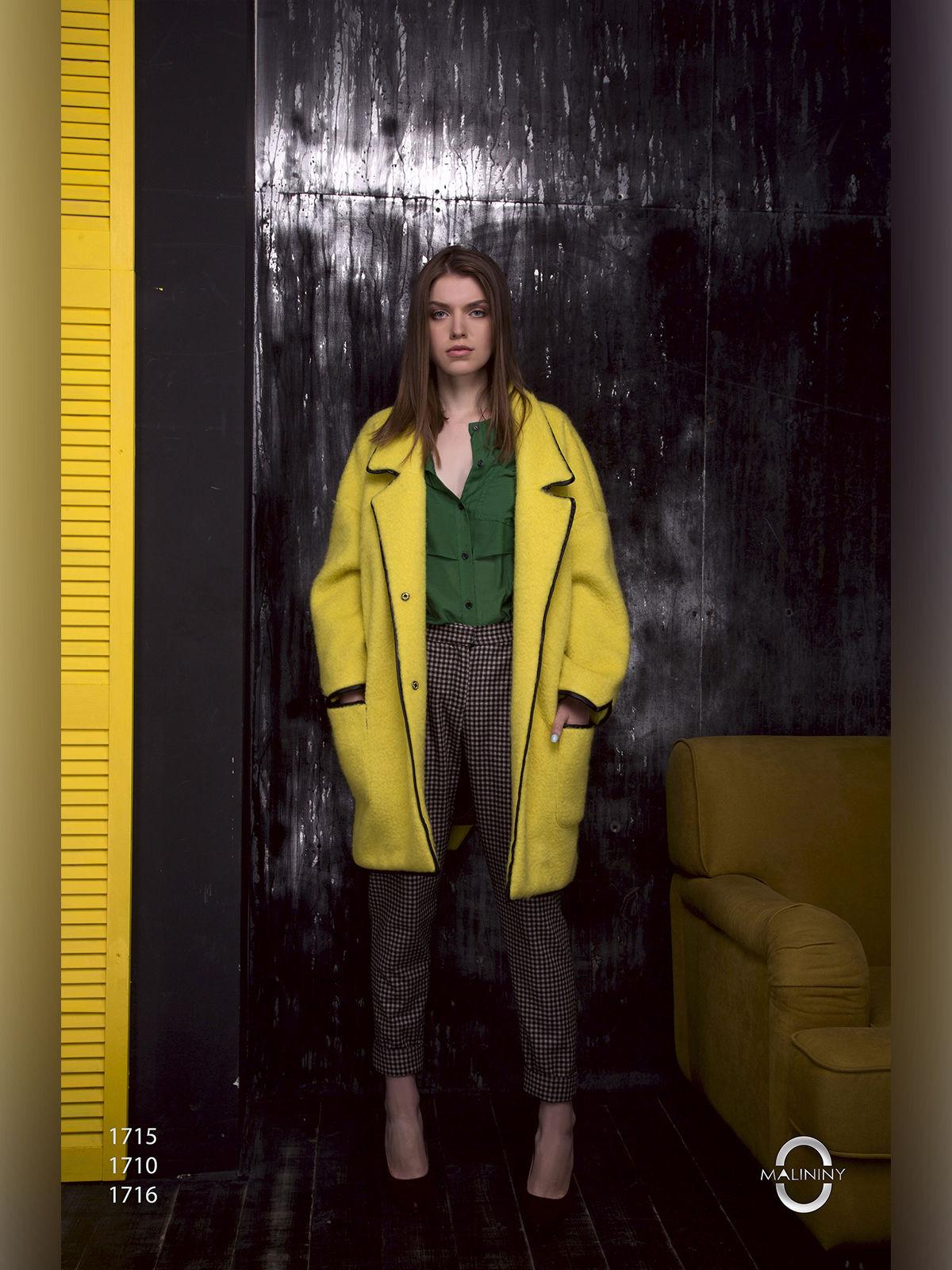 Пальто желтое | 2596411 | фото 3