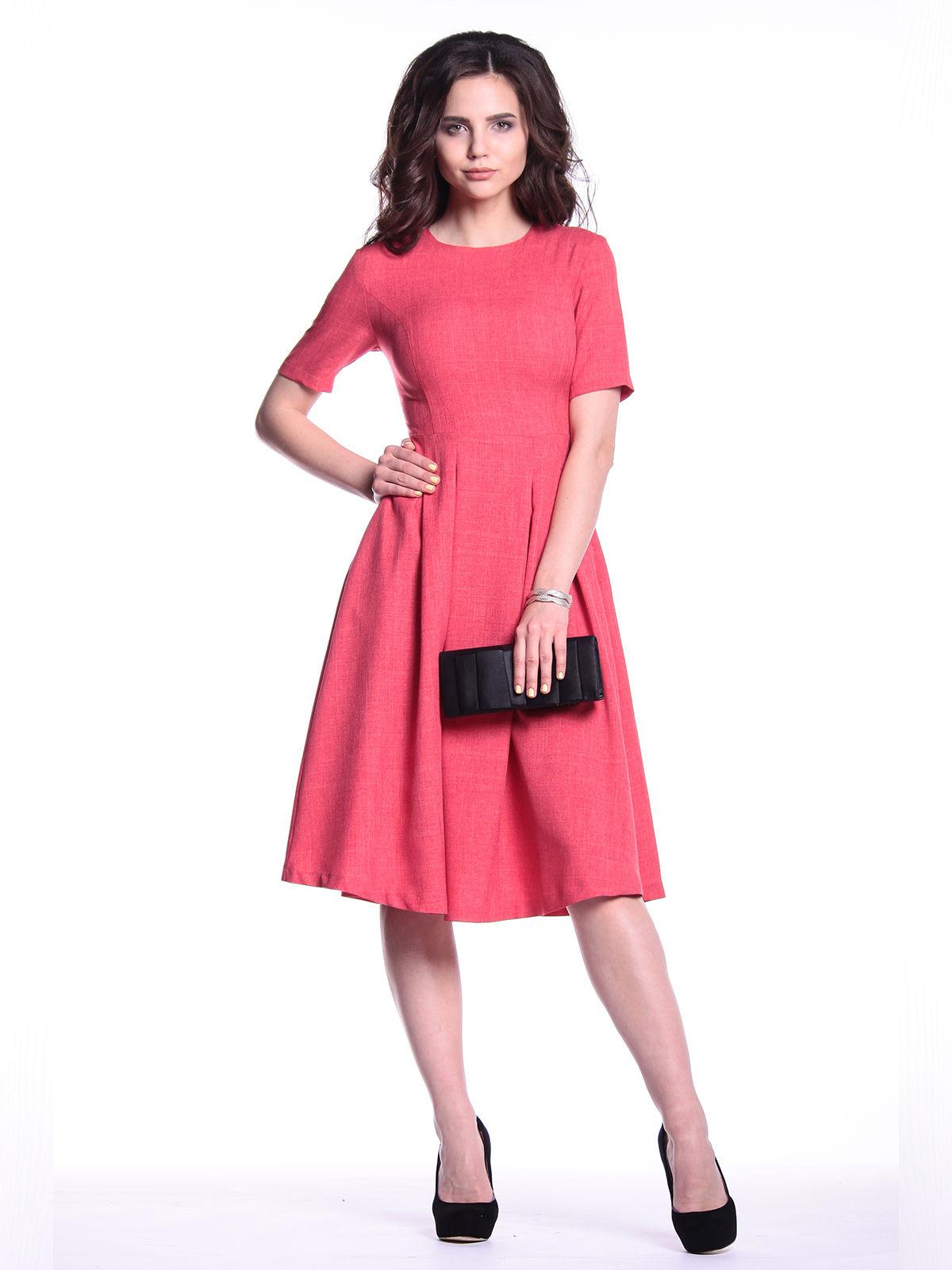 Платье цвета красный коралл   3302005