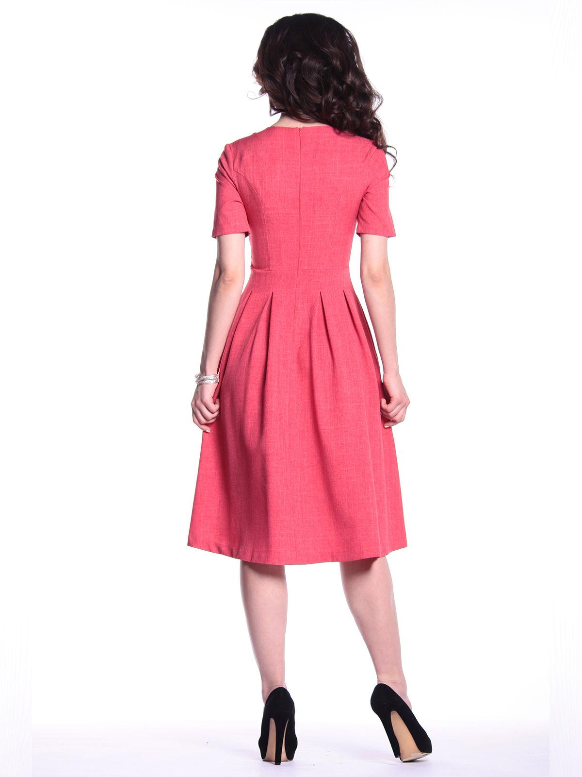 Платье цвета красный коралл   3302005   фото 2