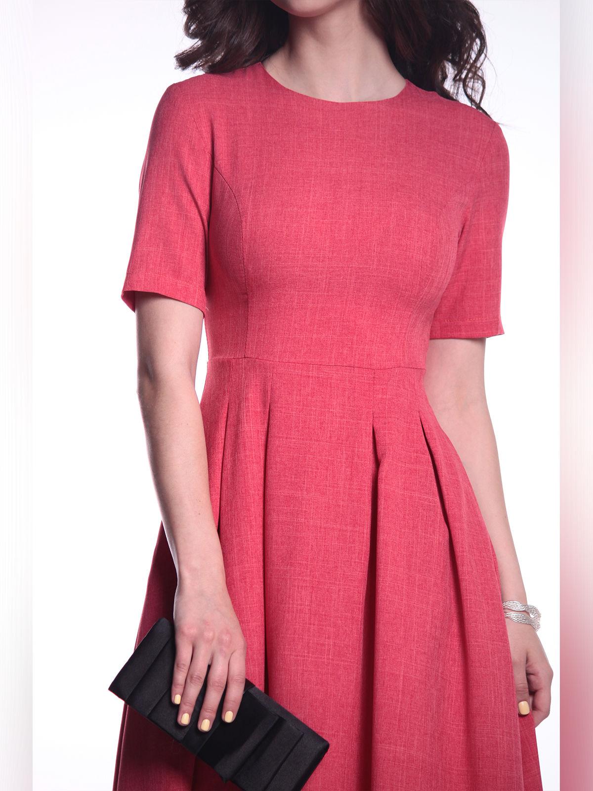 Платье цвета красный коралл   3302005   фото 3