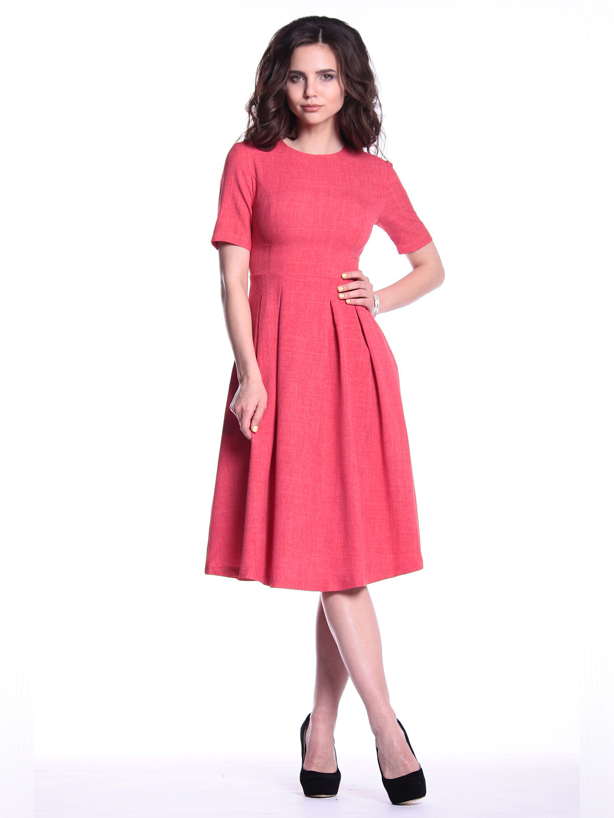Платье цвета красный коралл   3302005   фото 4