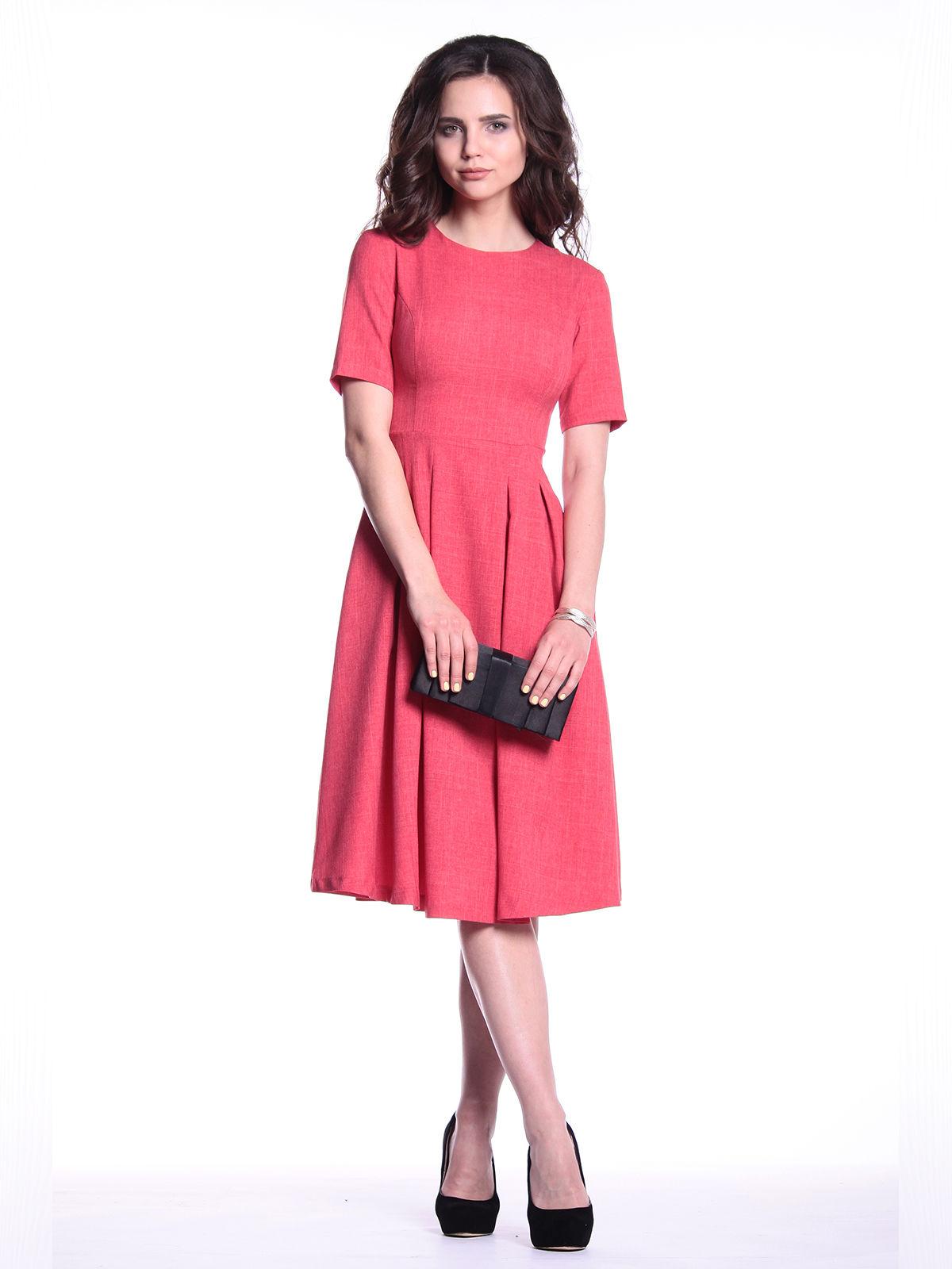 Платье цвета красный коралл   3302005   фото 5