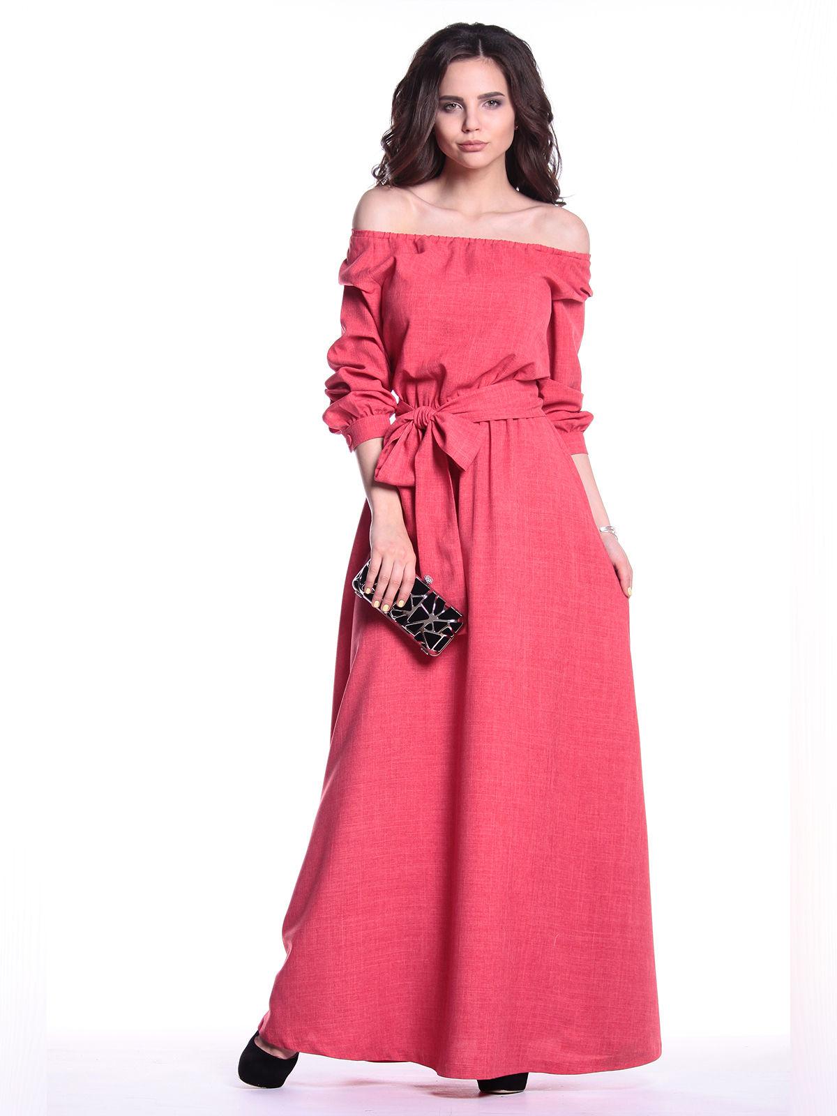 Сукня кольору червоний корал | 3302057