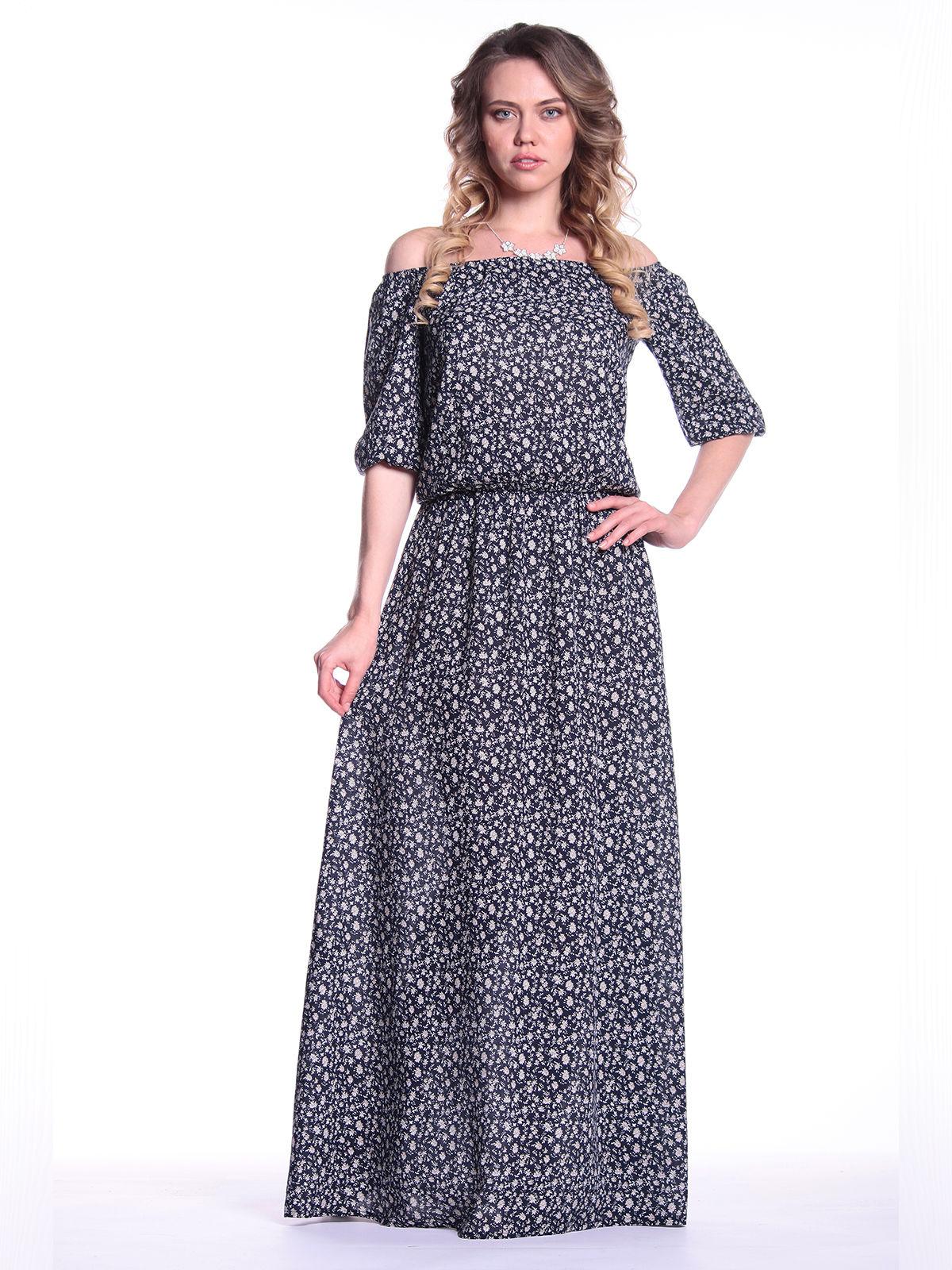 Платье в цветочный принт | 3302069