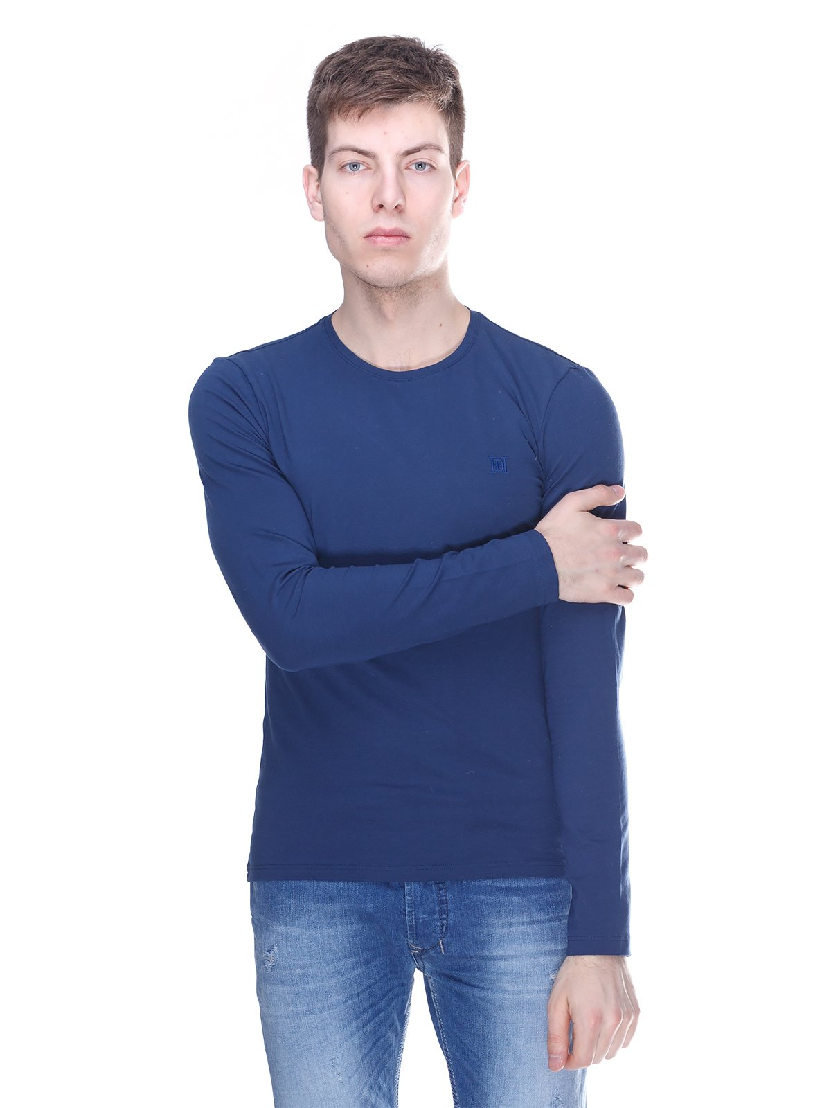 Лонгслив темно-синий | 3180277