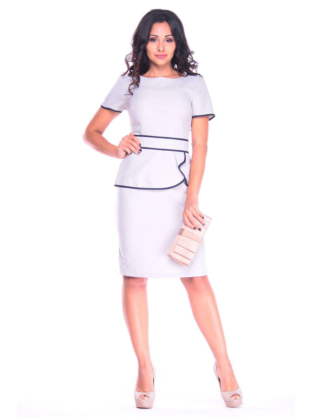 Сукня біло-сіра | 3214733