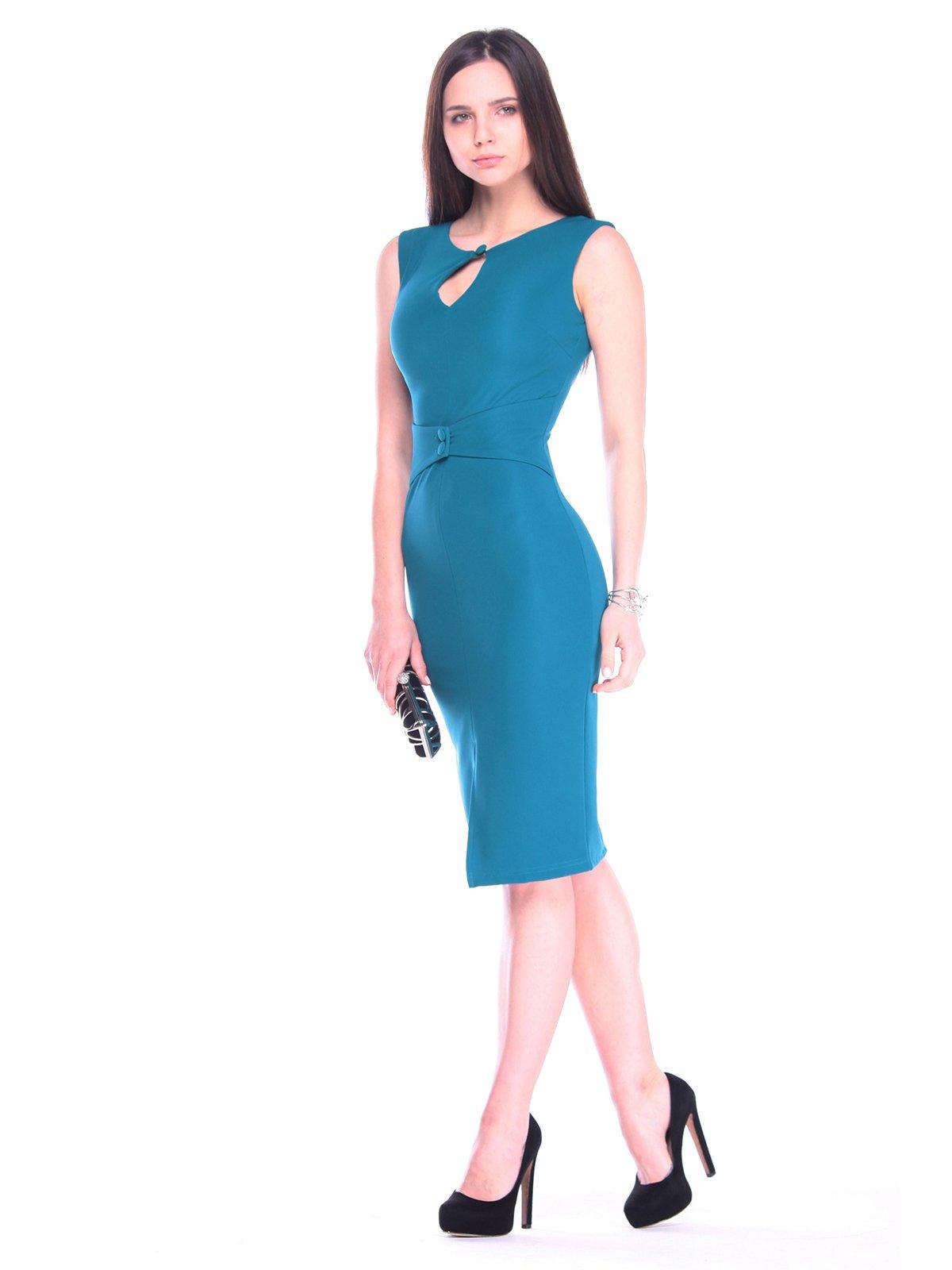 Платье темно-бирюзовое | 3241213